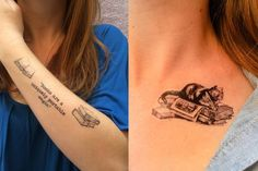 Literary Tattoos with Books