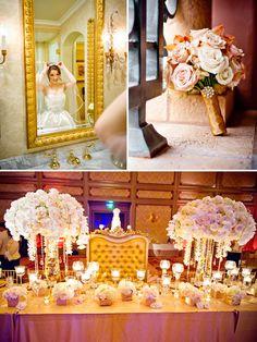 Gold wedding decoration