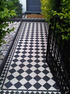 How To Renovate An Edwardian House   Jeffery and Wilkes Porch Tile, Patio Tiles, Outdoor Tiles, Front Garden Path, Front Path, Garden Paths, Victorian Front Garden, Victorian Terrace, Edwardian Haus