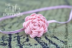 Mini LIGHT PINK Felt Flower Headband, petite newborn photo prop, felt, Birthday headband (50)