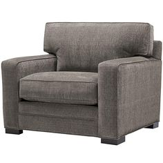 Big cozy chair. This upholstered chair is a great complement to a tailored sofa. HomeDecorators.com