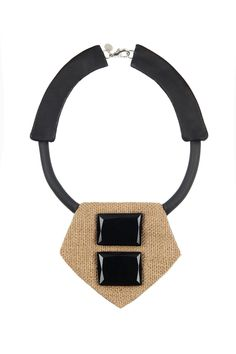 "The ""Safari II"" Necklace. #ParmeMarin #Leather #Jute"