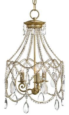 Eloise Chandelier in Iron and Crystal. #chandelier #lighting @curreyco