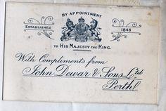 Visiting card, 1846