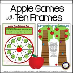 Apple Math with Ten Frames by Primary Inspiration by Linda Nelson | Teachers Pay Teachers