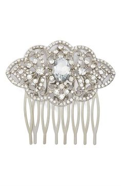 Free shipping and returns on Nina Ornate Crystal Comb at Nordstrom.com. A silvery, filigreed hair comb is embellished with tiny crystals—for a vintage-inspired style sure to add a touch of romantic sparkle to your tresses.