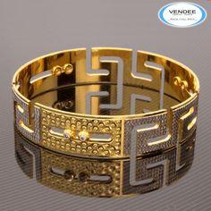 Pipe Design Dancing CZ Diamond Bangle 7531 - Online Shopping for Bracelets n Bangles by Vendee Fashion