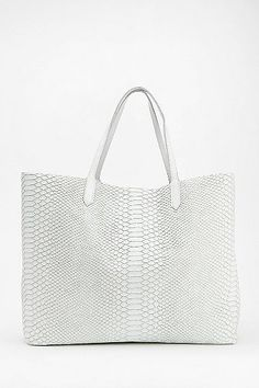 Shakuhachi Textured Python Vegan Leather Tote Bag