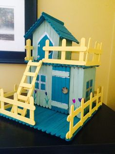 Cute Popsicle stick house by bertie