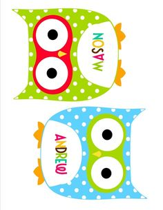 Owl themed bulletin board | Owl cutouts in 5 different colors for bulletin boards or anything else ...