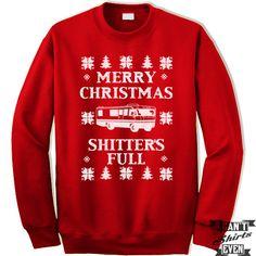 Christmas Vacation Unisex Sweater. Merry Christmas Shitter's Full. Unisex Sweatshirt. Ugly Christmas