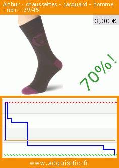 Arthur - chaussettes - jacquard - homme - noir - 39/45 (Vêtements). Réduction de 70%! Prix actuel 3,00 €, l'ancien prix était de 10,03 €. https://www.adquisitio.fr/arthur/chaussettes-jacquard