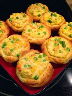Mini chicken pot pies ~ Recipe of today