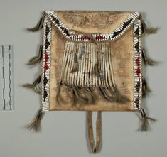 Satchel Ornamented With Porcupine Quills, Plains. Collector: Maj. George H. Palmer, 1915. NMNH.