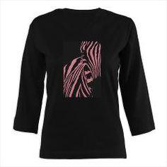 Pink Zebra Women's Long 3/4 Sleeve T-Shirt (dark)