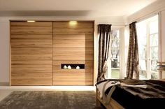 interior design with modern closet doors