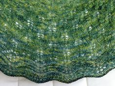 Barbara Benson pattern Caladan knitted by Raveler glisse in Zen Yarn Garden Serenity Silk Single. This color Acid Pistachio is awesome.
