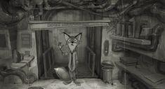 Early concept art for Zootopia Zootopia Concept Art, Zootopia Art, Concept Art World, Disney Concept Art, Art Disney, Walt Disney Animation Studios, Visual Development, Animation Film, Digital Illustration