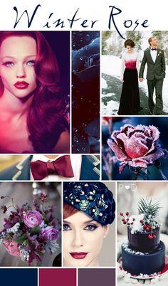 Winter Rose Wedding Inspiration Board