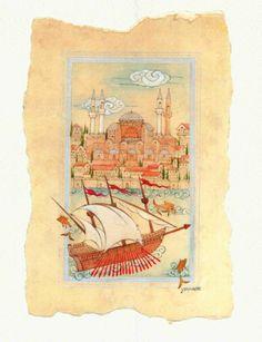 ancient Istanbul by yasemin akyol, via Behance