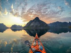 'I will probably travel with my kayak for many years. There are a lot of lakes and fjords that I've not visited yet. (Photo taken in Lofoten)