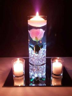 Wedding Centerpiece, Floating Candle Centerpiece with Blue Orchids and LED lights, Blue Wedding Decor, Bridal Shower Birthday Party Decor – Floating Candles İdeas. Floating Flower Centerpieces, Blue Wedding Centerpieces, Floating Candle Centerpieces, Floating Flowers, Bridal Shower Decorations, Wedding Decorations, Table Rose, Blue Orchids, Blue Flowers