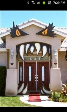 Halloween outdoor  decoration idea!