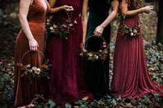Witch Wedding, Pagan Wedding, Gothic Wedding, Autumn Wedding, Elvish Wedding, Fall Bridesmaid Dresses, Wedding Bridesmaids, Wedding Dresses, Black Bridesmaids