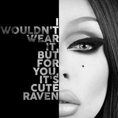 Raven Text Portrait