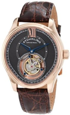 BESTSELLER! Stuhrling Original Men's 361.334K54 Tourbillon Everest Limited Edition Mechanical Brown Watch $712.10