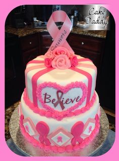 Breast cancer awareness cake.