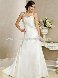 A-ligne sweetheart les trains tribunal satiné & organza Robe de mariée - €128.38 : WeddingDressesFR.com, Acheter des robes de mariée, robes ...
