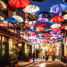 Anne's Lane, Dublin #floatingumbrellas