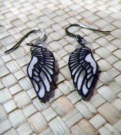 White Wing Earrings