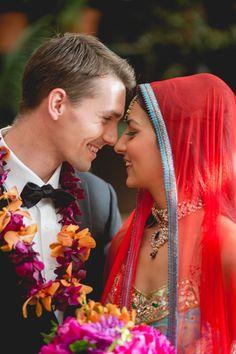 Interracial Marriage, Interracial Wedding, Big Fat Indian Wedding, Red Wedding, Wedding Couples, Cute Couples, Indian American Weddings, Indian Weddings, Dog Grooming Tips
