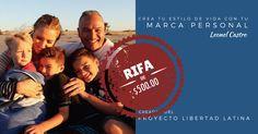 La rifa incluye dinero en efectivo enviado a tu cuenta de Paypal, publicidad Facebook, todas las herramientas necesarias por todo un año, coaching y mentoria para aplicarlo a un negocio existente o un negocio nuevo y más... http://rifa1.latinnetworkacademy.com/ref/o7852652/
