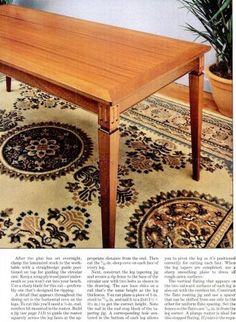 #3088 Dining Room Table Plans - Furniture Plans