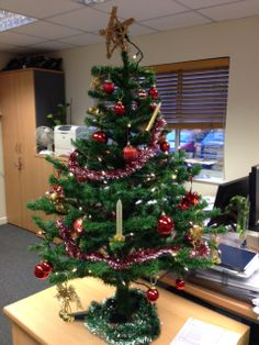 Christmas tree is up in the Customer Services office!