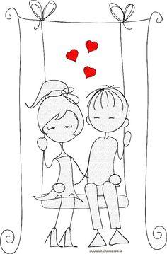 muñecos Palito san valentín