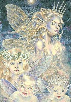 Maxine Gadd published fairy and fantasy artist. Exceptional digital illustrations and mystical beings Magical Creatures, Fantasy Creatures, Fantasy Kunst, Fantasy Art, Fantasy Fairies, Art Beauté, Fairy Pictures, Beautiful Fairies, Fairy Art