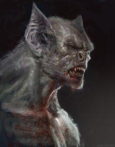 Vampire by Manzanedo on DeviantArt Dark Creatures, Creatures Of The Night, Fantasy Creatures, Mythical Creatures, Monster Art, Fantasy Monster, Vampire Art, Vampire Knight, Dark Fantasy Art