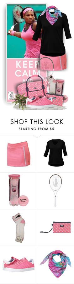 """""""Keep calm and play Tennis - Nicole's Tennis Boutique"""" by nicolestennisboutique ❤ liked on Polyvore featuring Jofit, AME, Lacoste, K-Swiss and Liz Nehdi"""