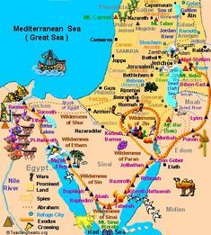 Map of Ancient Holy Land moses journey - Bing images Bible Study Notebook, Scripture Study, Bible Notes, Bible Scriptures, Heiliges Land, Image Jesus, Bibel Journal, Bible Mapping, Bible Knowledge