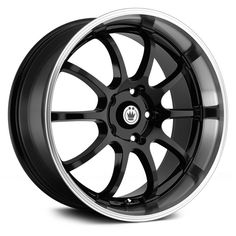 KONIG® LIGHTNING Wheels - Black with Machined Lip Rims
