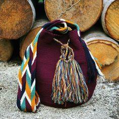 Wayuu Bag-Plain/Maroon - Alynshop