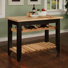 Portable Cooking Carts | Powell Kitchen Island - Great kitchen Islands Design | Home Interior ...