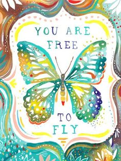 """""""You Are Free To Fly"""" Girls Wall Art Decor by Katie Daisy for Oopsy Daisy, size 18x24 $119 (save 15% today only)"""