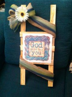 Check out this item in my Etsy shop https://www.etsy.com/listing/265484532/god-gave-me-you-wedding-ladder