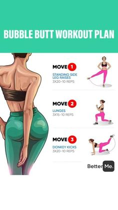 21 Day Workout, Gym Workout Tips, Fitness Workout For Women, Easy Workouts, Workout Videos, Fitness Tips, Fitness Motivation, Bubble Butt Workout, Buttocks Workout
