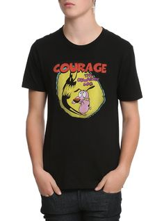 Happy National Dog Day! // Courage The Cowardly Dog Shadow Logo T-Shirt